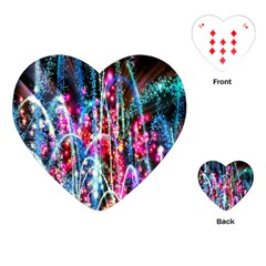 Fireworks Rainbow Playing Cards (heart)  by Mariart