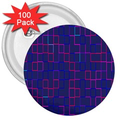 Grid Lines Square Pink Cyan Purple Blue Squares Lines Plaid 3  Buttons (100 Pack)  by Mariart