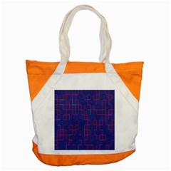 Grid Lines Square Pink Cyan Purple Blue Squares Lines Plaid Accent Tote Bag by Mariart