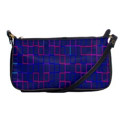 Grid Lines Square Pink Cyan Purple Blue Squares Lines Plaid Shoulder Clutch Bags by Mariart