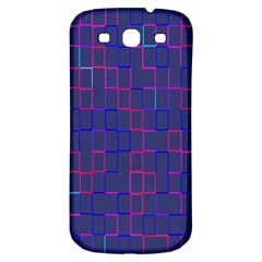 Grid Lines Square Pink Cyan Purple Blue Squares Lines Plaid Samsung Galaxy S3 S Iii Classic Hardshell Back Case by Mariart
