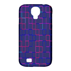 Grid Lines Square Pink Cyan Purple Blue Squares Lines Plaid Samsung Galaxy S4 Classic Hardshell Case (pc+silicone) by Mariart