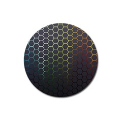 Hexagons Honeycomb Magnet 3  (round) by Mariart