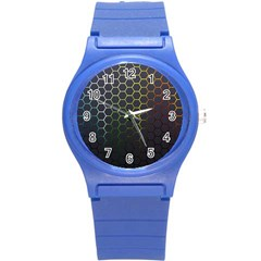 Hexagons Honeycomb Round Plastic Sport Watch (s) by Mariart