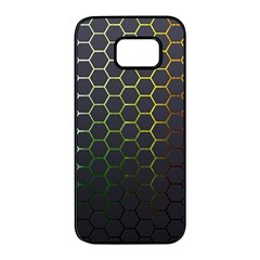 Hexagons Honeycomb Samsung Galaxy S7 Edge Black Seamless Case by Mariart