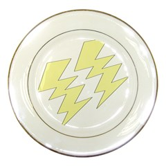 Lightning Yellow Porcelain Plates by Mariart