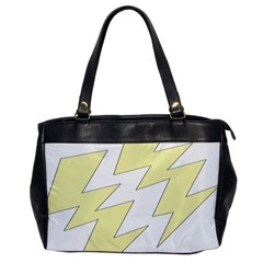 Lightning Yellow Office Handbags by Mariart