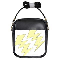 Lightning Yellow Girls Sling Bags by Mariart