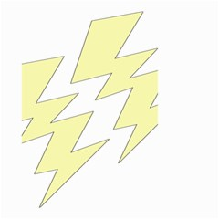 Lightning Yellow Small Garden Flag (two Sides) by Mariart