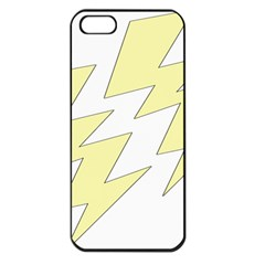 Lightning Yellow Apple Iphone 5 Seamless Case (black) by Mariart