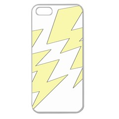 Lightning Yellow Apple Seamless Iphone 5 Case (clear) by Mariart