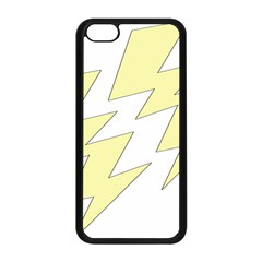 Lightning Yellow Apple Iphone 5c Seamless Case (black) by Mariart