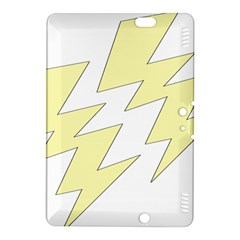 Lightning Yellow Kindle Fire Hdx 8 9  Hardshell Case by Mariart