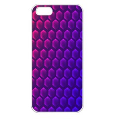 Hexagon Widescreen Purple Pink Apple Iphone 5 Seamless Case (white) by Mariart