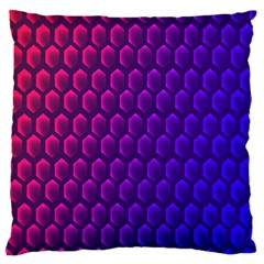 Hexagon Widescreen Purple Pink Large Flano Cushion Case (two Sides) by Mariart