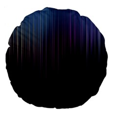 Moonlight Light Line Vertical Blue Black Large 18  Premium Flano Round Cushions by Mariart