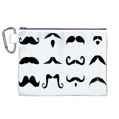 Mustache Man Black Hair Style Canvas Cosmetic Bag (xl) by Mariart