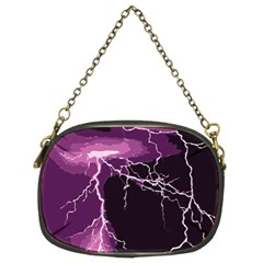 Lightning Pink Sky Rain Purple Light Chain Purses (two Sides)  by Mariart