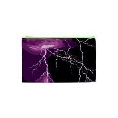 Lightning Pink Sky Rain Purple Light Cosmetic Bag (xs) by Mariart