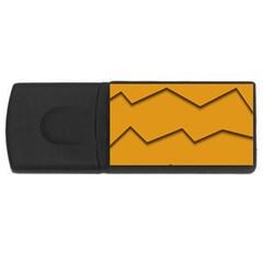 Orange Shades Wave Chevron Line Usb Flash Drive Rectangular (4 Gb) by Mariart