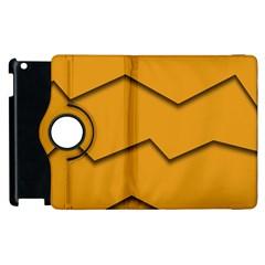 Orange Shades Wave Chevron Line Apple Ipad 3/4 Flip 360 Case by Mariart