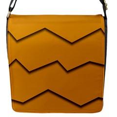 Orange Shades Wave Chevron Line Flap Messenger Bag (s) by Mariart