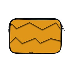 Orange Shades Wave Chevron Line Apple Ipad Mini Zipper Cases by Mariart