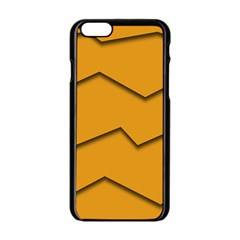Orange Shades Wave Chevron Line Apple Iphone 6/6s Black Enamel Case by Mariart