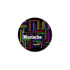 Mustache Golf Ball Marker (10 Pack) by Mariart