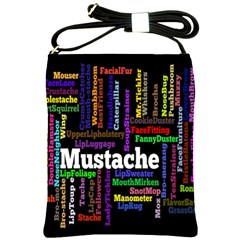 Mustache Shoulder Sling Bags by Mariart