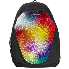 Multi Colour Alpha Backpack Bag by Mariart
