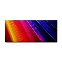 Multicolor Light Beam Line Rainbow Red Blue Orange Gold Purple Pink Cosmetic Storage Cases by Mariart