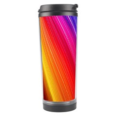 Multicolor Light Beam Line Rainbow Red Blue Orange Gold Purple Pink Travel Tumbler by Mariart