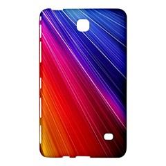 Multicolor Light Beam Line Rainbow Red Blue Orange Gold Purple Pink Samsung Galaxy Tab 4 (8 ) Hardshell Case  by Mariart
