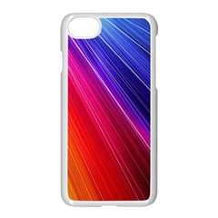 Multicolor Light Beam Line Rainbow Red Blue Orange Gold Purple Pink Apple Iphone 7 Seamless Case (white) by Mariart
