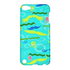 Mustache Jellyfish Blue Water Sea Beack Swim Blue Apple Ipod Touch 5 Hardshell Case by Mariart
