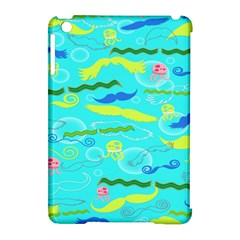 Mustache Jellyfish Blue Water Sea Beack Swim Blue Apple Ipad Mini Hardshell Case (compatible With Smart Cover) by Mariart