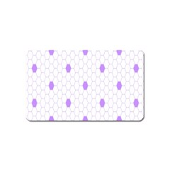 Purple White Hexagon Dots Magnet (name Card) by Mariart