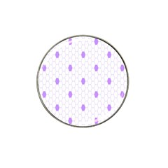 Purple White Hexagon Dots Hat Clip Ball Marker by Mariart