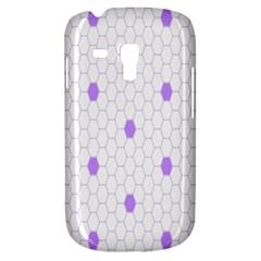 Purple White Hexagon Dots Galaxy S3 Mini by Mariart