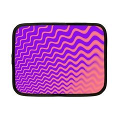 Original Resolution Wave Waves Chevron Pink Purple Netbook Case (small)  by Mariart