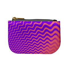 Original Resolution Wave Waves Chevron Pink Purple Mini Coin Purses by Mariart