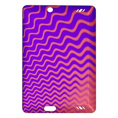 Original Resolution Wave Waves Chevron Pink Purple Amazon Kindle Fire Hd (2013) Hardshell Case by Mariart