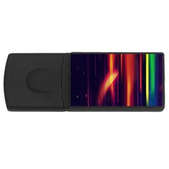 Perfection Graphic Colorful Lines Usb Flash Drive Rectangular (4 Gb) by Mariart