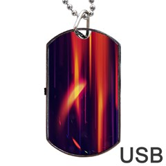 Perfection Graphic Colorful Lines Dog Tag Usb Flash (two Sides) by Mariart