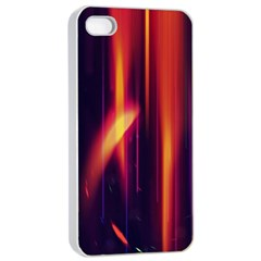 Perfection Graphic Colorful Lines Apple Iphone 4/4s Seamless Case (white) by Mariart