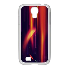 Perfection Graphic Colorful Lines Samsung Galaxy S4 I9500/ I9505 Case (white) by Mariart