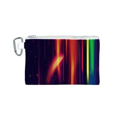 Perfection Graphic Colorful Lines Canvas Cosmetic Bag (s) by Mariart