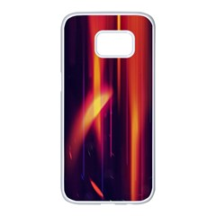 Perfection Graphic Colorful Lines Samsung Galaxy S7 Edge White Seamless Case by Mariart