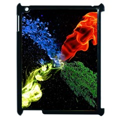 Perfect Amoled Screens Fire Water Leaf Sun Apple Ipad 2 Case (black) by Mariart